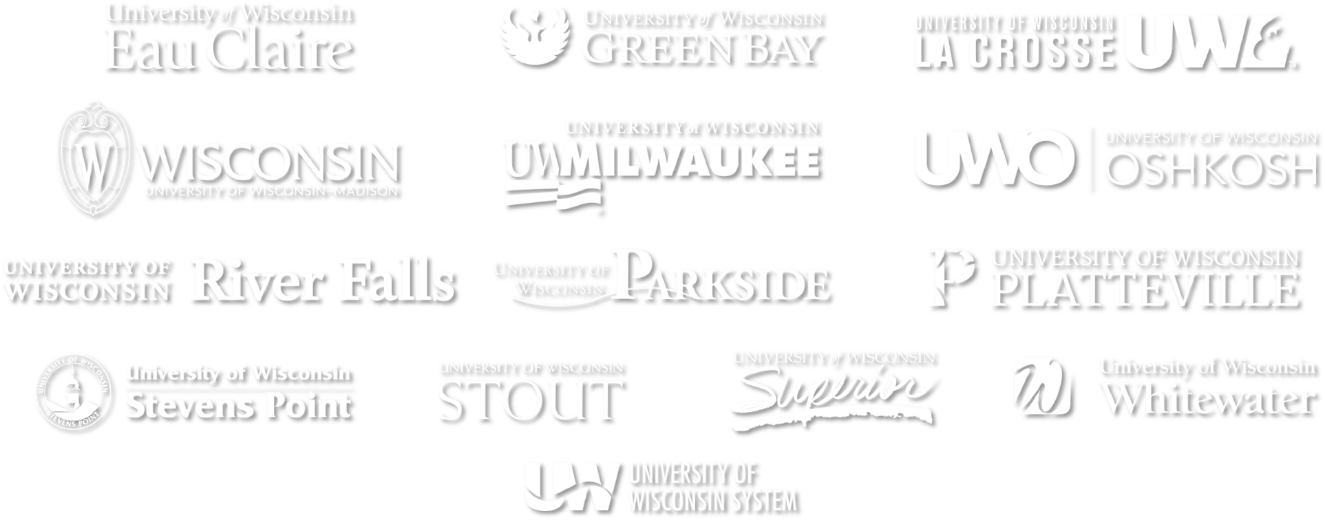 Image of all UW System schools